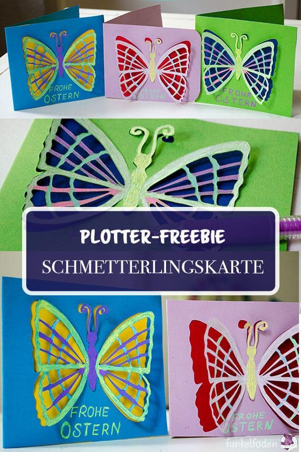 Plotterfreebie - Osterkarten mit Schmetterling