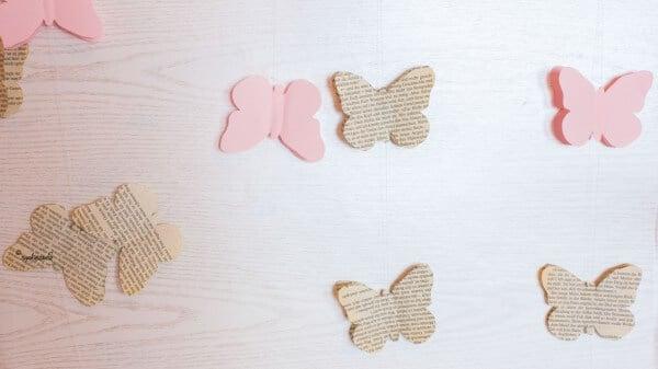 Schmetterlingsgirlande - bibliophil und frühlingshaft