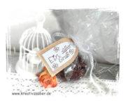 Schokokekse und Geschenkverpackung