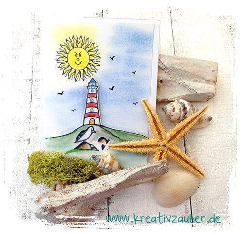 Grußkarte Leuchtturm
