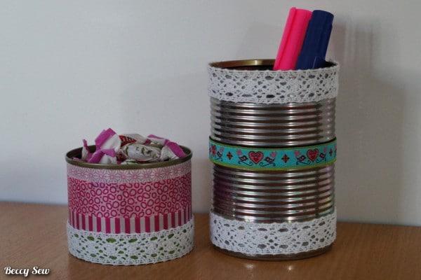 Dosen-Recycling ohne nähen: Aufbewahrung aus Konserven