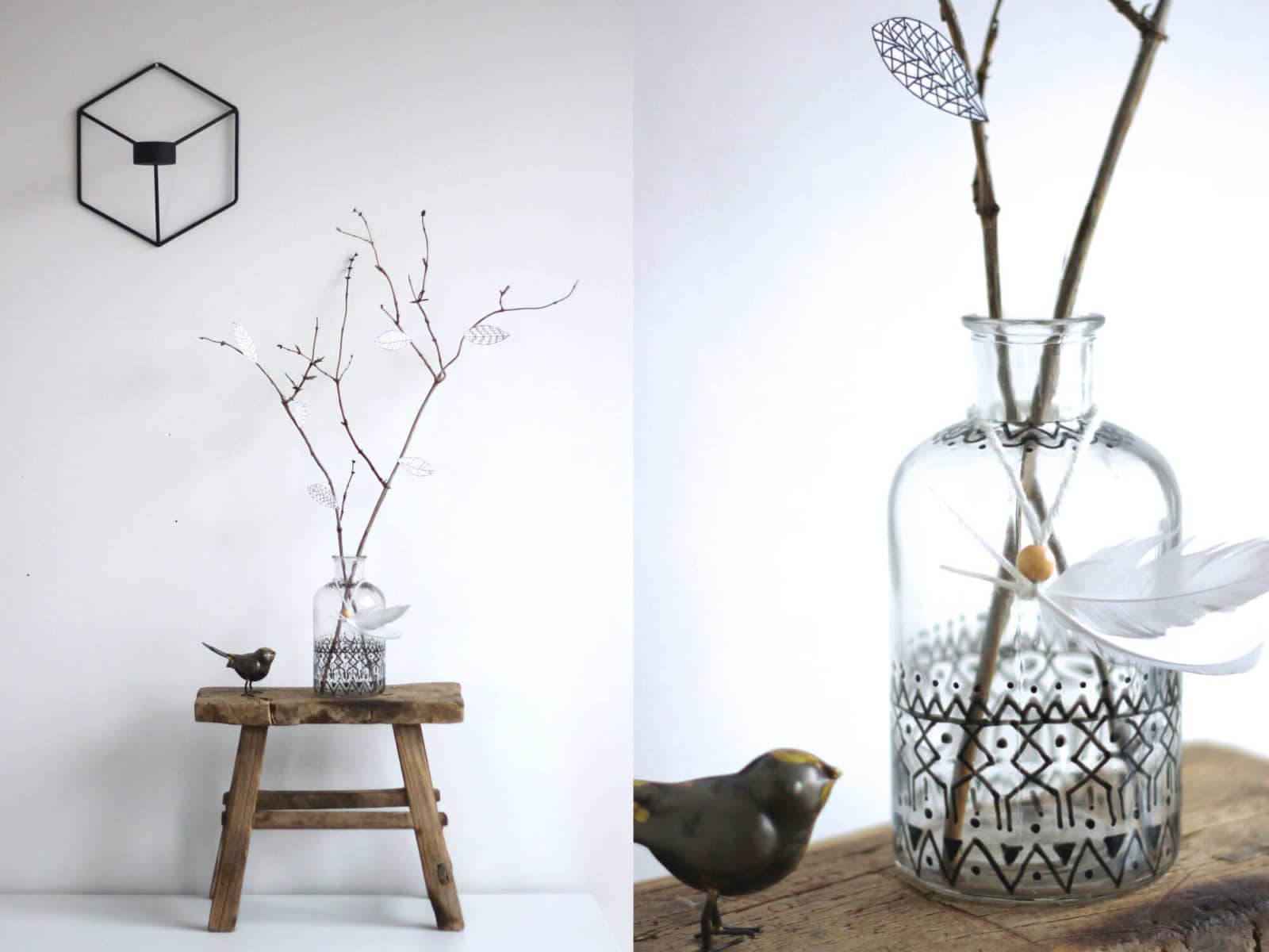 eine glasvase mit neuem outfit handmade kultur. Black Bedroom Furniture Sets. Home Design Ideas