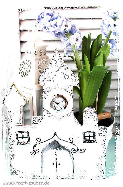 orientalische Uhr basteln