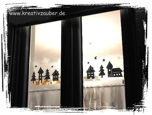 romantische winterdeko am fenster handmade kultur. Black Bedroom Furniture Sets. Home Design Ideas