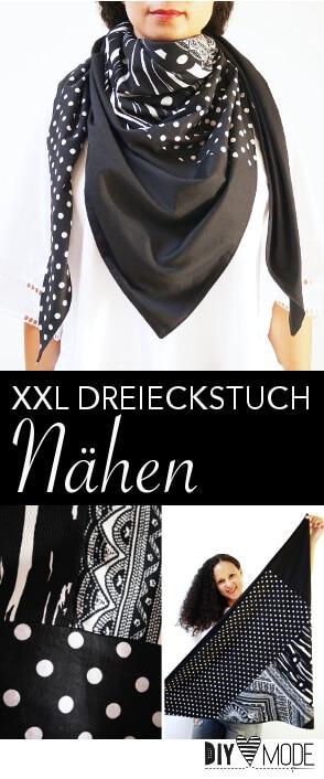 XXL Dreieckstuch nähen / Video-Anleitung