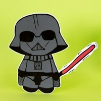 Niedlicher Darth Vader - Plotter freebie, free printable und Video Tutorial - Für Fans