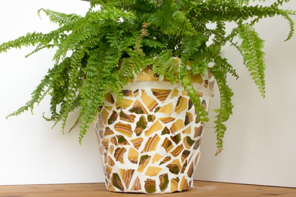 Blumentopf mit Mosaik - HANDMADE Kultur
