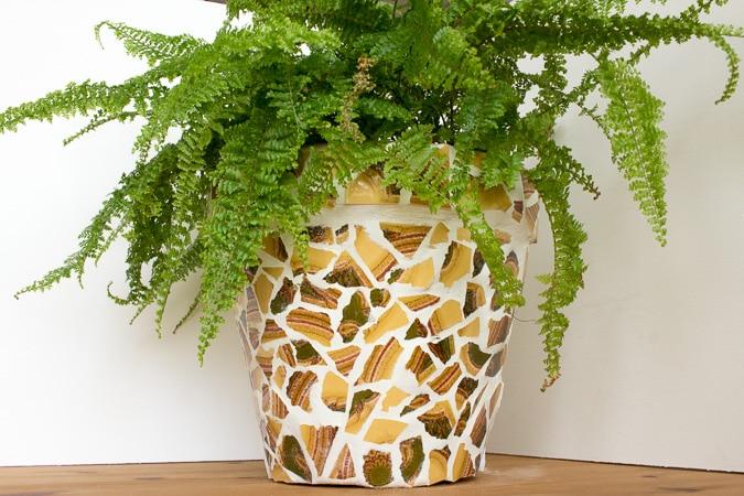 Blumentopf mit mosaik handmade kultur for Blumentopf gestalten