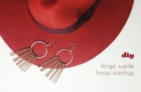 Boho Ohrringe mit Wildlederfransen