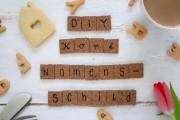 DIY Namensschilder aus Kork