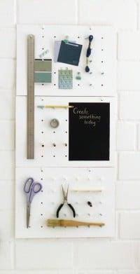 Moodboard, Deko, Aufbewahung - Pegboard-Wand zum Selbermachen