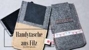 Nähanleitung: Handytasche aus Filz | gratis Schnittmuster