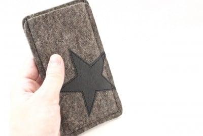 Handytasche mit Stern aus SnapPap, Maßanfertigung