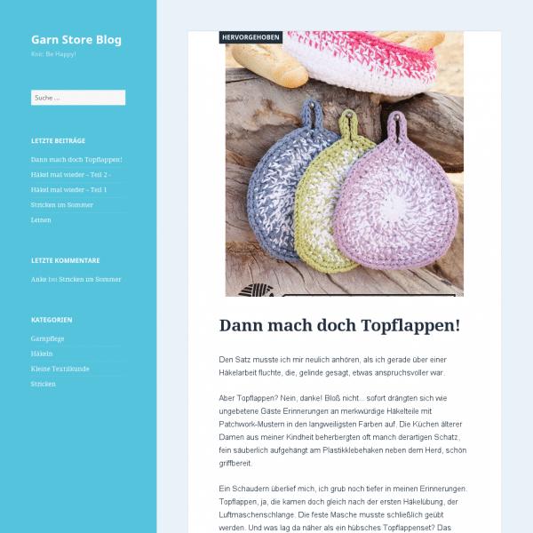 Garn Store Blog   Knit: Be Happy!