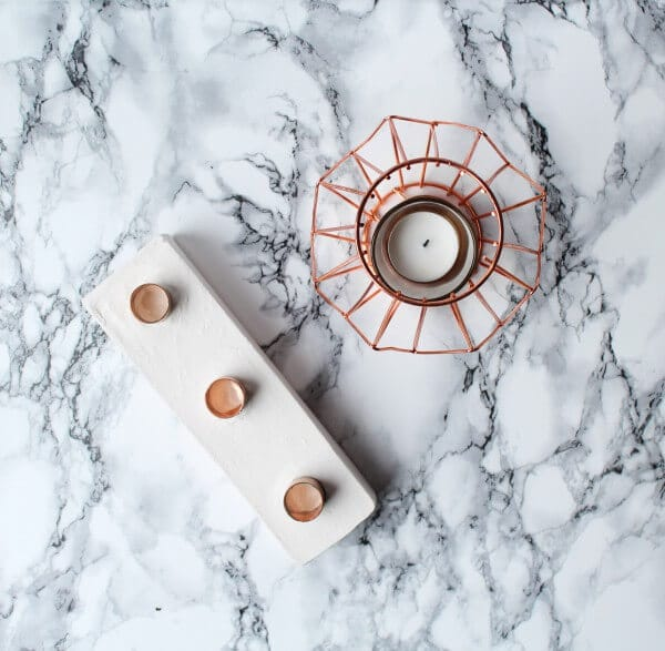 DIY Kerzenhalter aus Gips