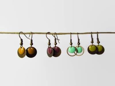 Ohrringe Emaille verschiedene Farben