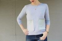 DIY Sweater mit augesetzten Ledertaschen