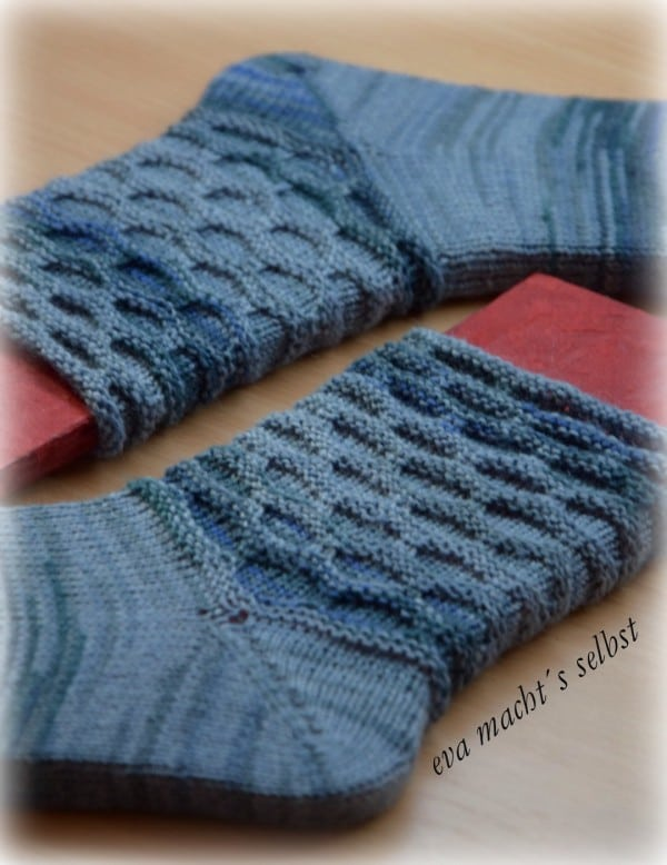 Socken im Morgentau