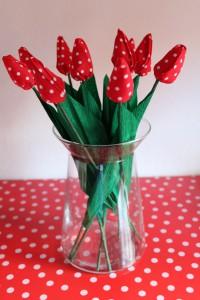 Tulpen aus Stoff nähen