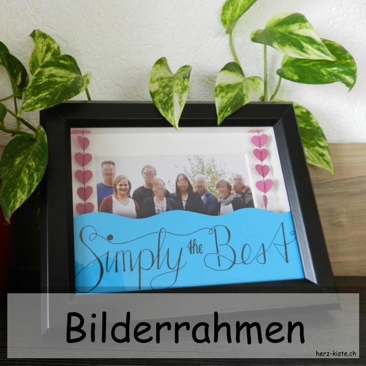 DIY Bilderrahmen zum Vatertag - HANDMADE Kultur