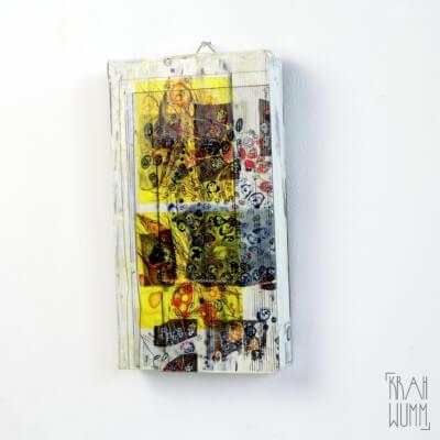 Recycling Kassette collagiert – VHS