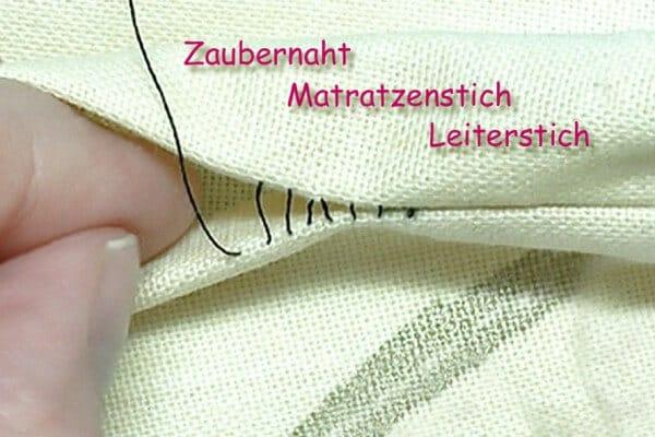 Zaubernaht / Matratzenstich / Leiterstich