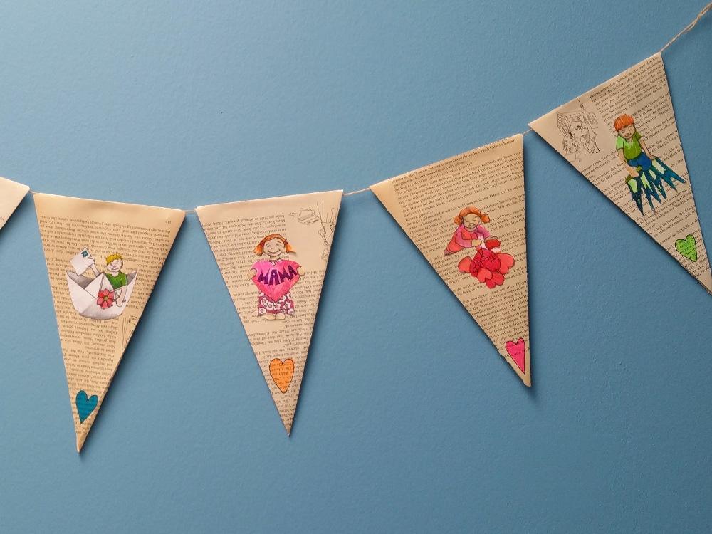 Karten und girlande zum muttertag basteln handmade kultur for Muttertagsgeschenke selber basteln