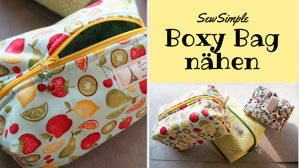 Boxy Bag - Kulturtasche nähen - HANDMADE Kultur