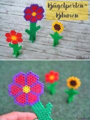 Blumen aus Bügelperlen