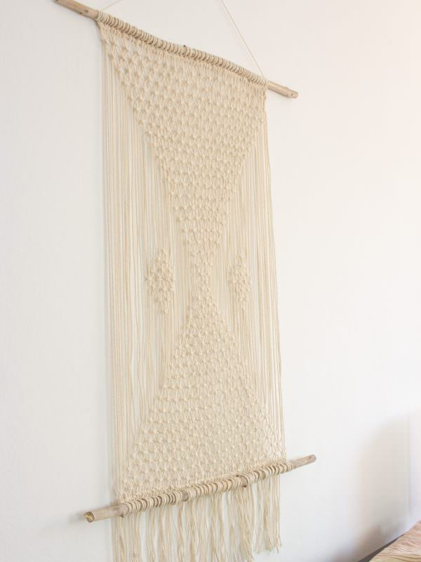 makramee wandteppich kn pfen handmade kultur. Black Bedroom Furniture Sets. Home Design Ideas