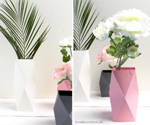 Origami Paper Vase | 498x600