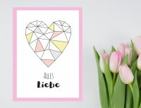 Geometrische Muttertagskarte