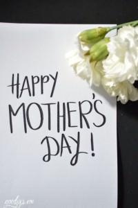 Last Minute Printable für eine Muttertags-Karte