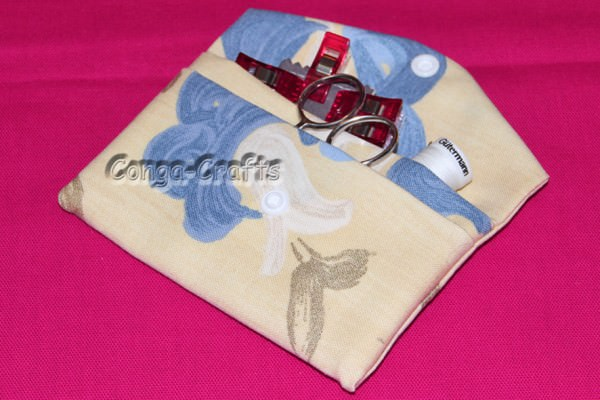 Tasche aus 1 Stück Stoff mit Innenfach oder Außenfach oder ...