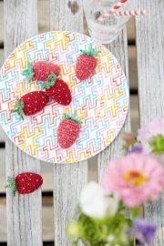Gehäkelte Erdbeeren