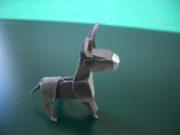 Ein Esel aus Papier (Origami)