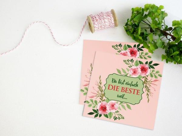 Last-Minute-Muttertagspostkarte