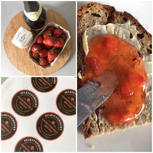 Erdbeerbowle aufs Brot: Sektgelee mit Erdbeeren