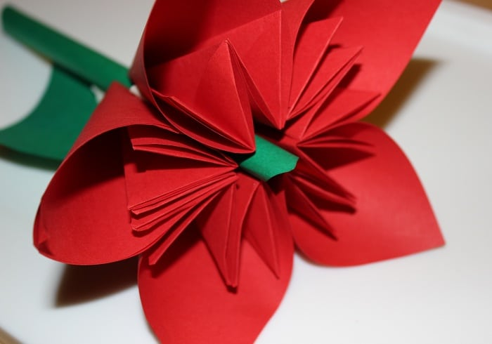 origami blume handmade kultur. Black Bedroom Furniture Sets. Home Design Ideas