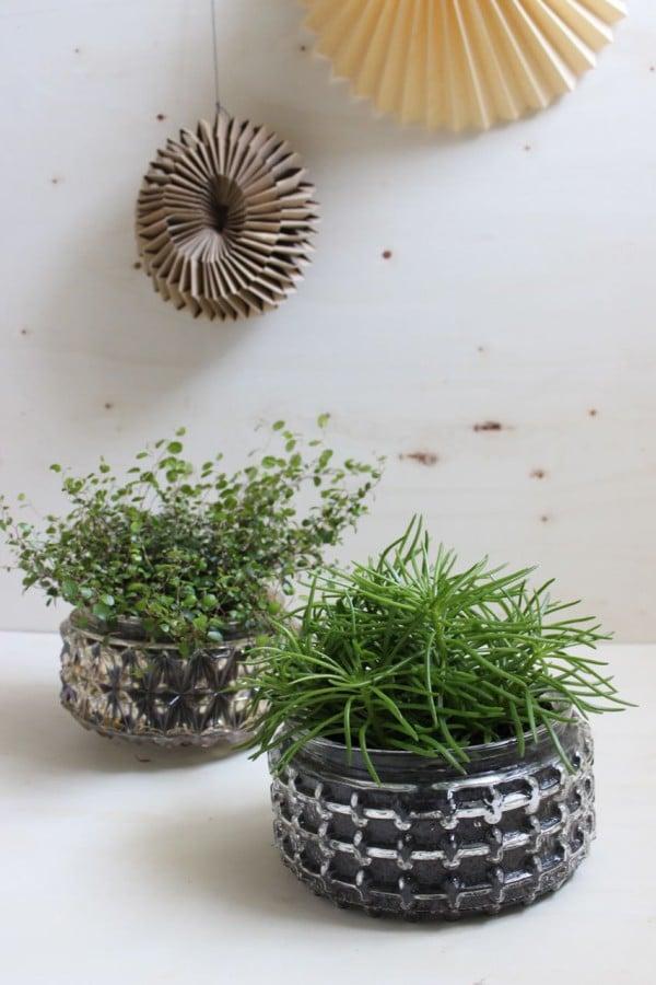 DIY – Aus Vintagelampen schicke Pflanzentöpfe