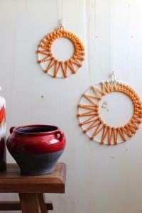DIY – Macramee Monde in Ombré Färbung