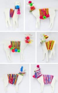 #12giftswithlove - DIY Lama-Mobile mit bunter Wolle