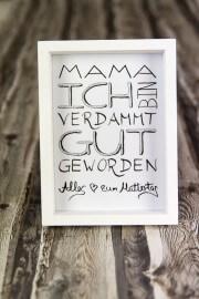 Muttertagsgeschenk -  sag's mit einem Handlettering