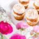 Cupcakes mit Baiserhaube und Rhabarber von den [Foodistas]