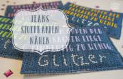 Stoffkarten aus Jeans nähen