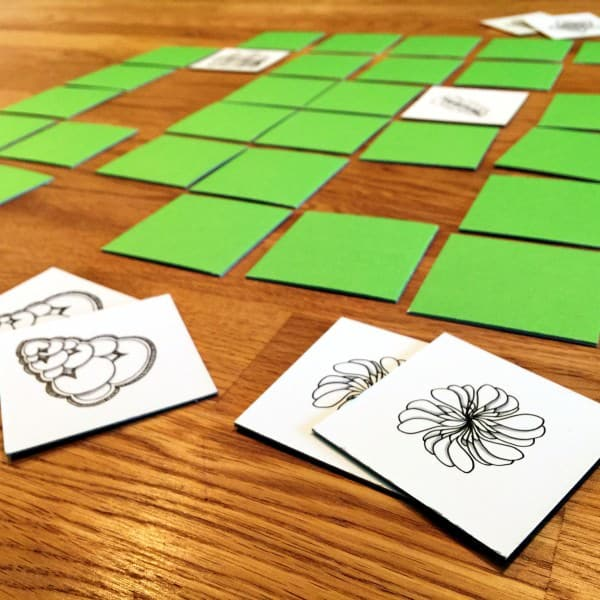 Zentangle® inspiriertes Memory Spiel