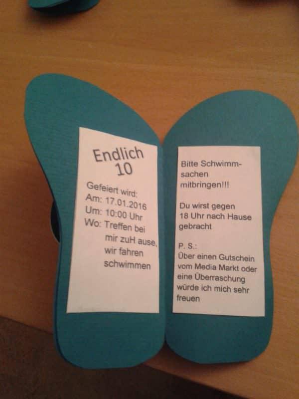 einladungen zum geburtstag im schwimmbad - handmade kultur, Einladung