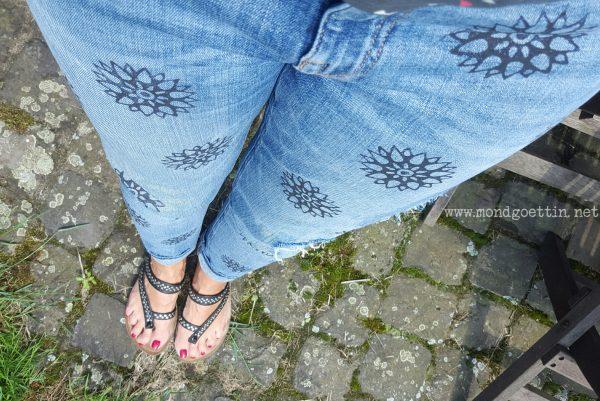 Jeans bestempeln