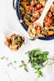 Couscoussalat mit mediterranem Ofengemüse - Perfekt zum Grillabend