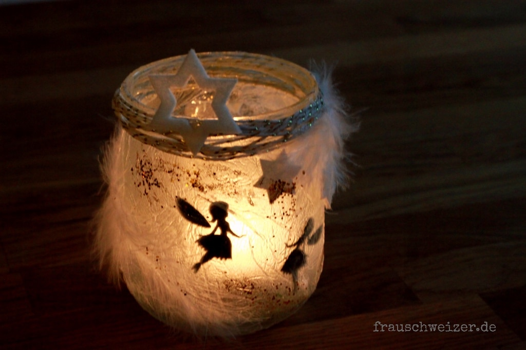 diy windlicht fee im glas handmade kultur. Black Bedroom Furniture Sets. Home Design Ideas